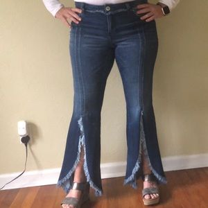 INC fray accent jeans